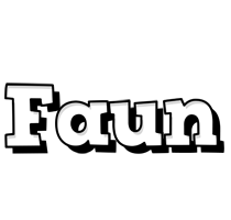 Faun snowing logo