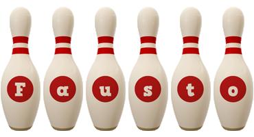 Fausto bowling-pin logo