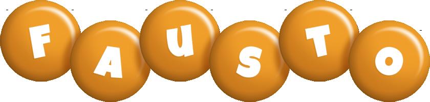 Fausto candy-orange logo