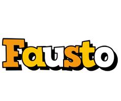 Fausto cartoon logo