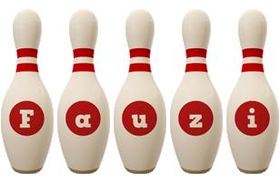 Fauzi bowling-pin logo
