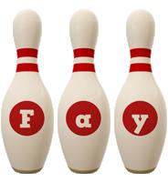 Fay bowling-pin logo