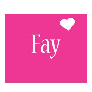 Fay love-heart logo