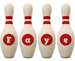 Faye bowling-pin logo