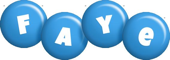 Faye candy-blue logo