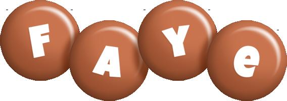 Faye candy-brown logo