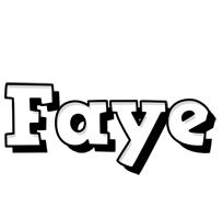 Faye snowing logo