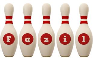Fazil bowling-pin logo