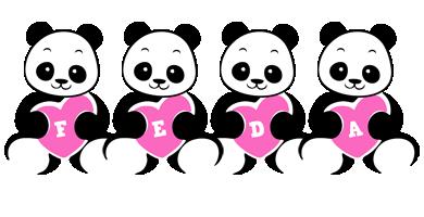 Feda love-panda logo