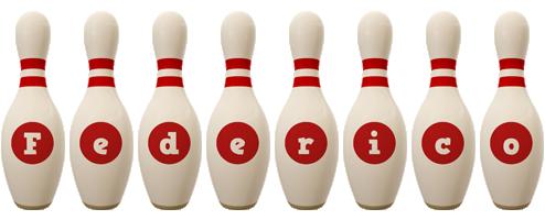 Federico bowling-pin logo