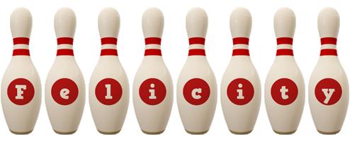 Felicity bowling-pin logo