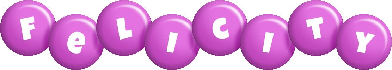 Felicity candy-purple logo