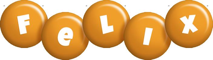 Felix candy-orange logo