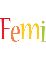 Femi birthday logo