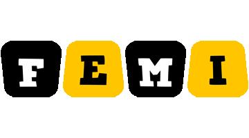 Femi boots logo