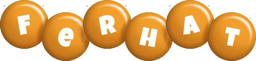 Ferhat candy-orange logo