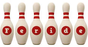 Feride bowling-pin logo