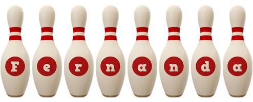 Fernanda bowling-pin logo