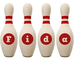 Fida bowling-pin logo