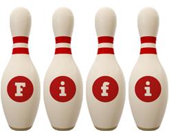 Fifi bowling-pin logo