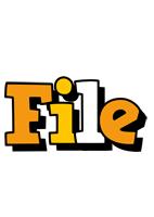 File cartoon logo