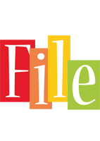 File colors logo