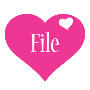 File love-heart logo