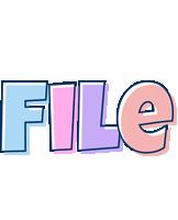 File pastel logo