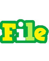 File soccer logo