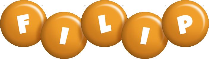 Filip candy-orange logo