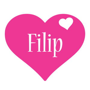 Filip love-heart logo