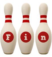 Fin bowling-pin logo