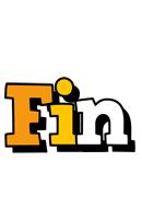 Fin cartoon logo