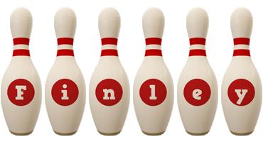Finley bowling-pin logo