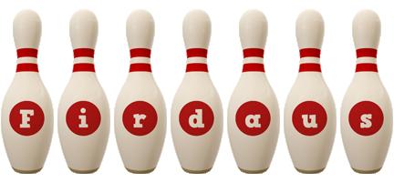 Firdaus bowling-pin logo