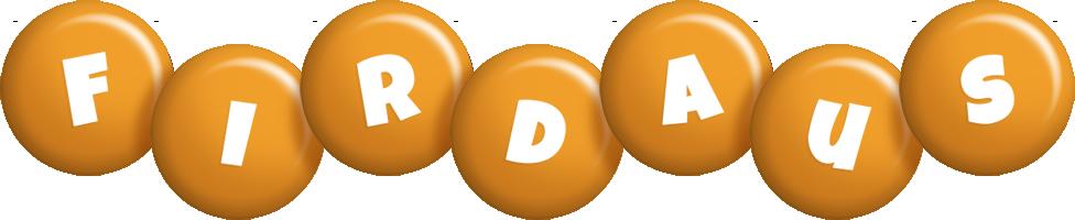Firdaus candy-orange logo