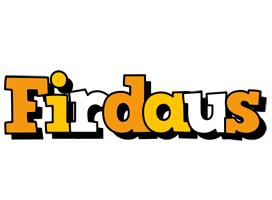 Firdaus cartoon logo