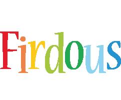 Firdous birthday logo