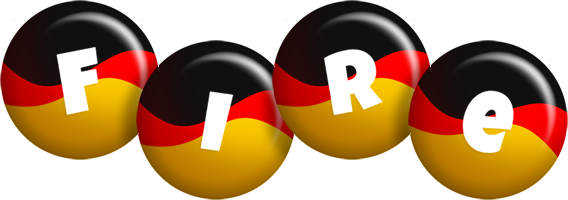 Fire german logo
