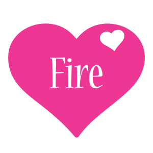 Fire love-heart logo