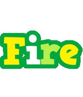 Fire soccer logo