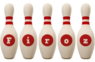 Firoz bowling-pin logo