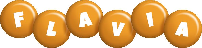 Flavia candy-orange logo