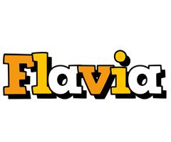 Flavia cartoon logo