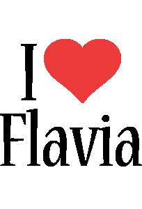 Flavia i-love logo