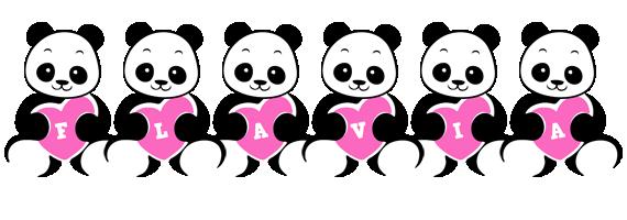 Flavia love-panda logo