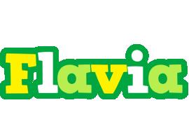Flavia soccer logo