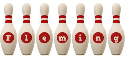 Fleming bowling-pin logo