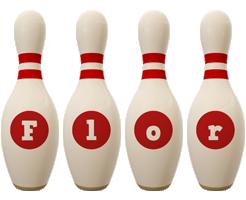 Flor bowling-pin logo