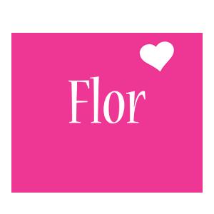 Flor love-heart logo